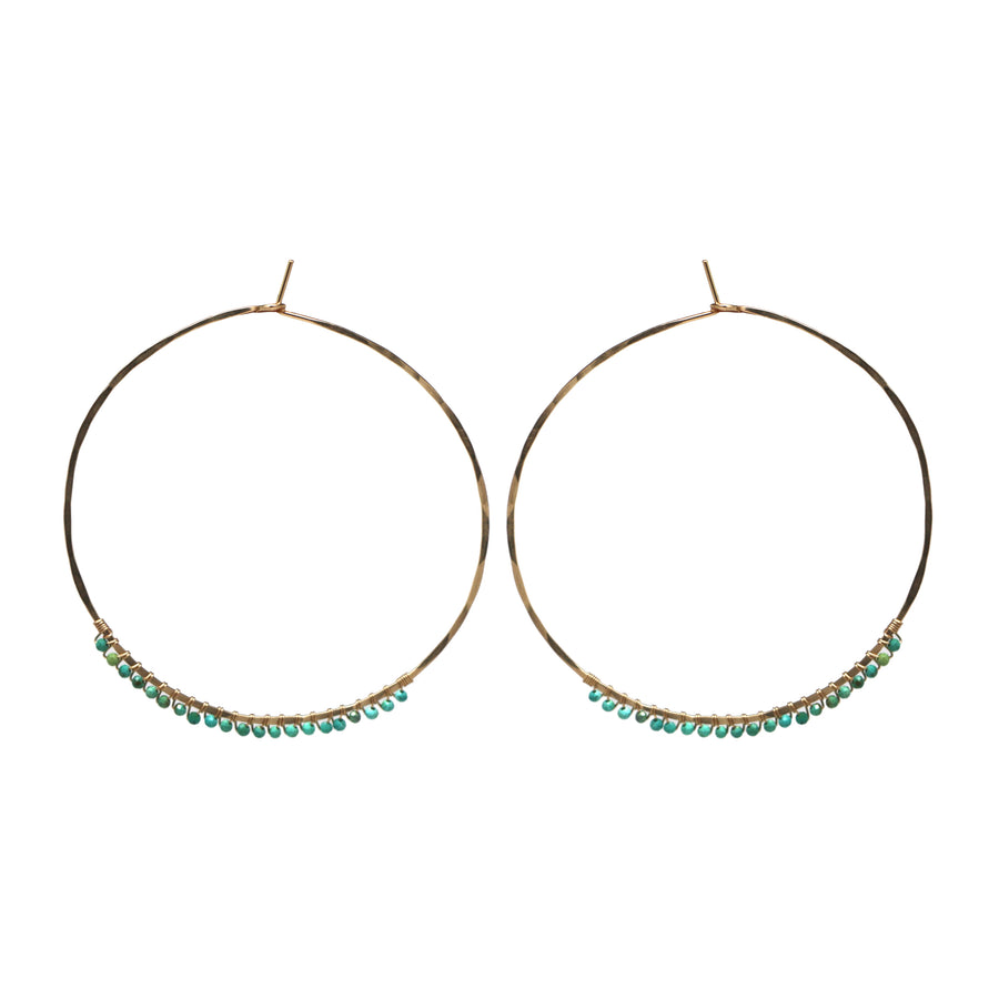 Janine Hoops Large - Turquoise