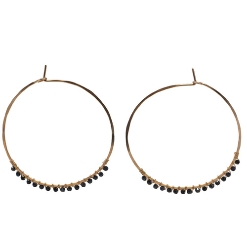 Janine Hoops Medium - Mystic Black Spinel