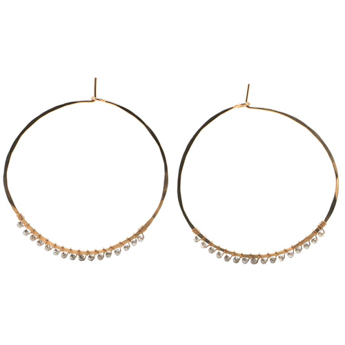 Janine Hoops Medium - Mystic Labradorite