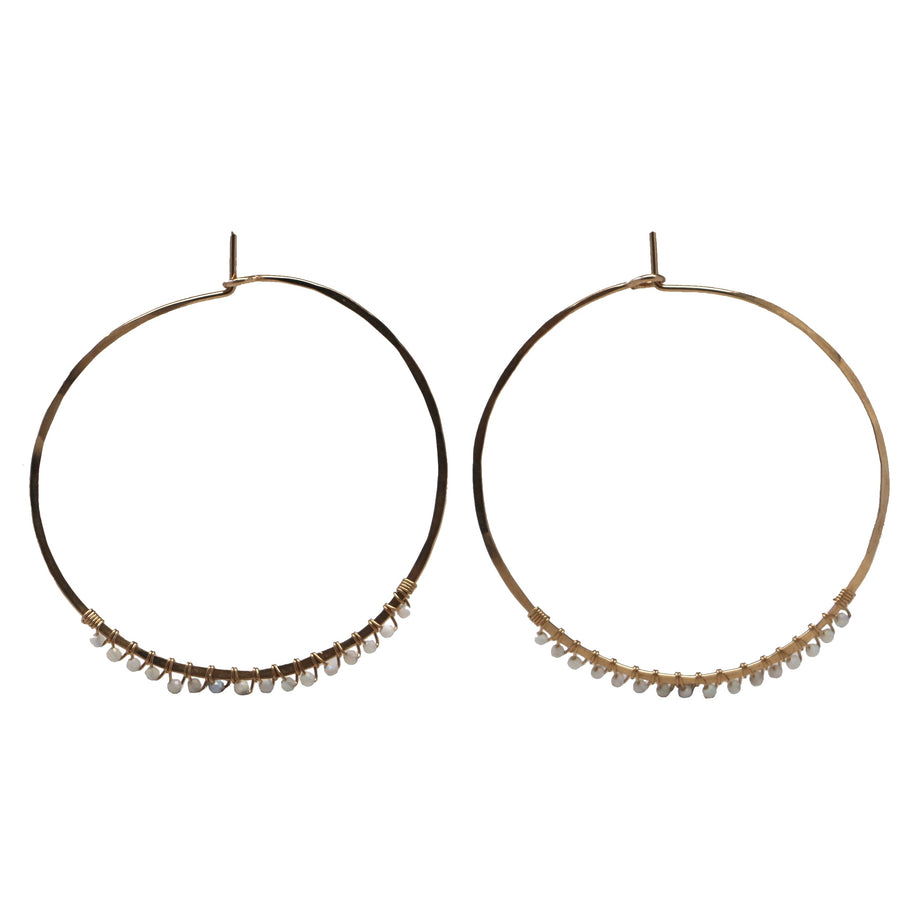 Janine Hoops Medium - Opal