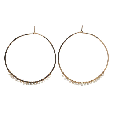Janine Hoops Medium - Pearl