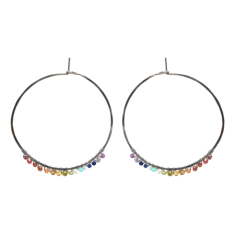 Janine Hoops Medium - Rainbow