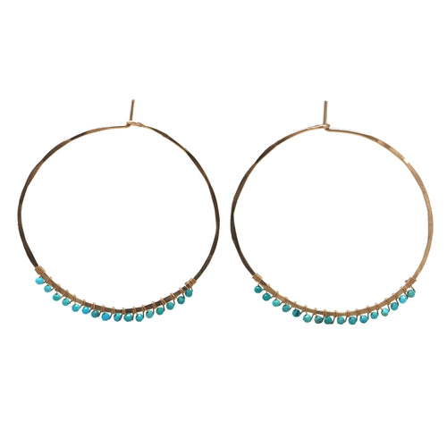 Janine Hoops Medium - Sleeping Beauty Turquoise