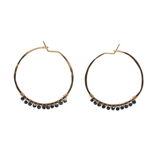Janine Hoops Small - Mystic Black Spinel