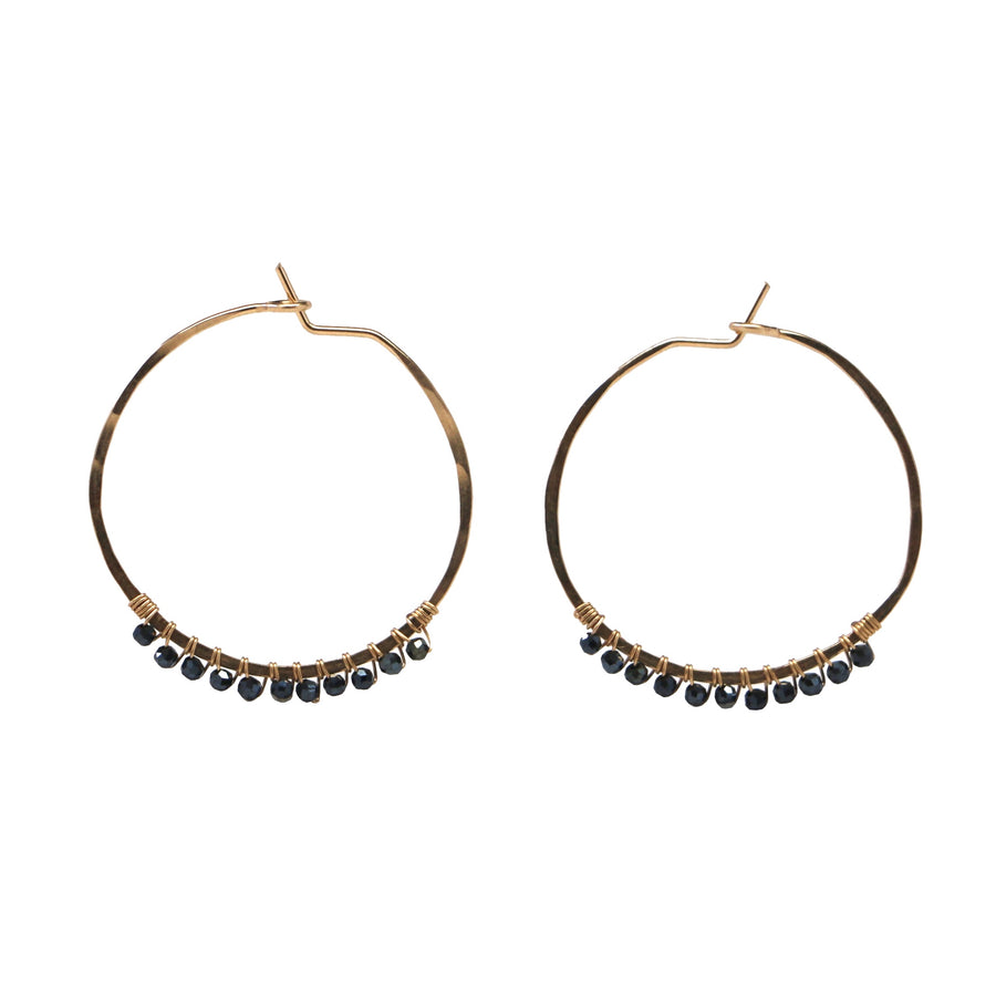 Janine Hoops Small - Hematite