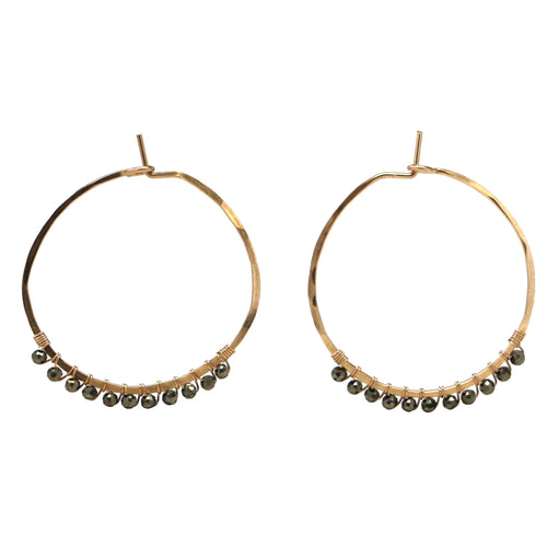 Janine Hoops Small - Pyrite