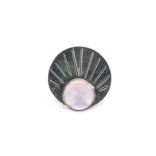 Lavender Quartz Rising Ring - Size 7