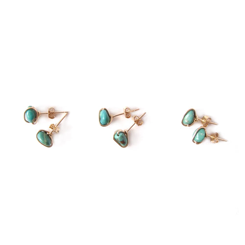 Turquoise Nugget Studs