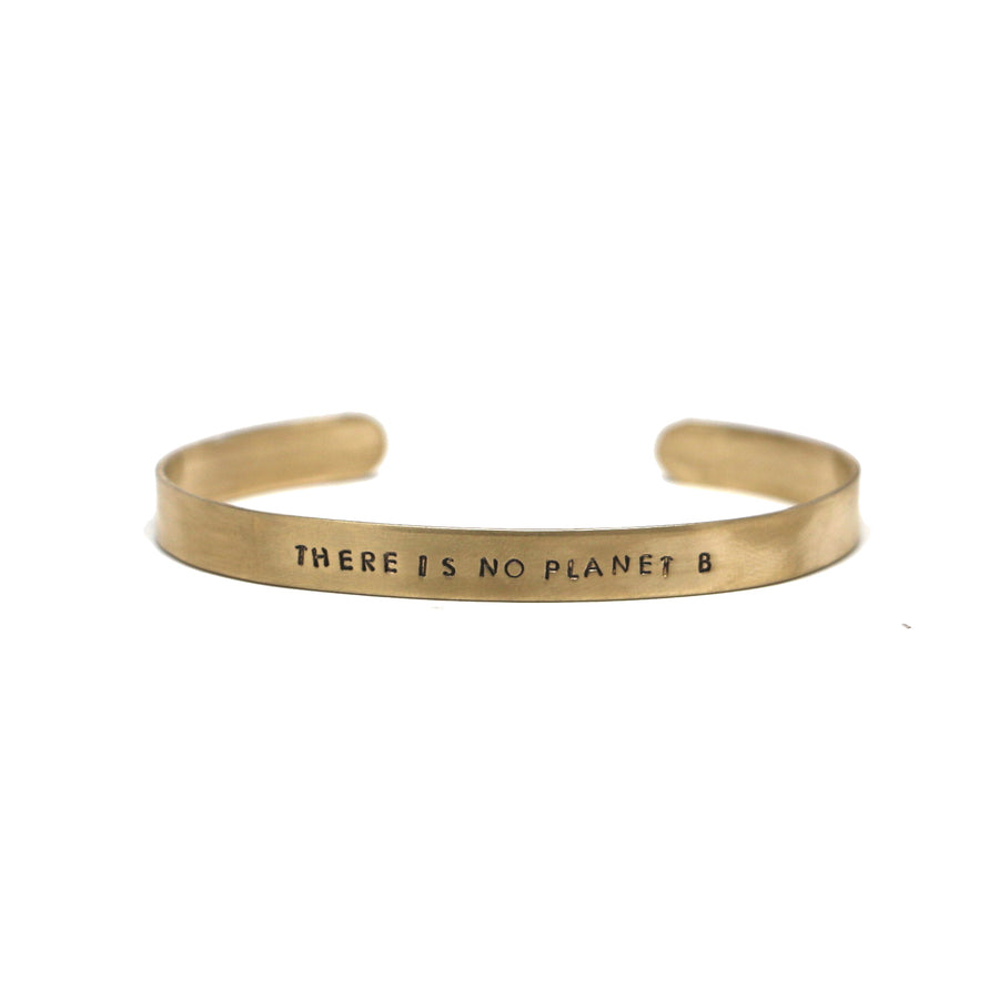 Mantra Cuff - THERE IS NO PLANET B