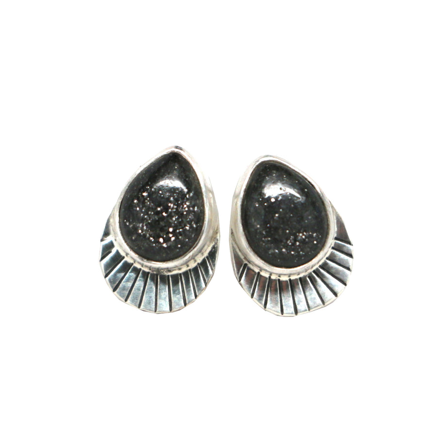 Midnight Quartzite Studs