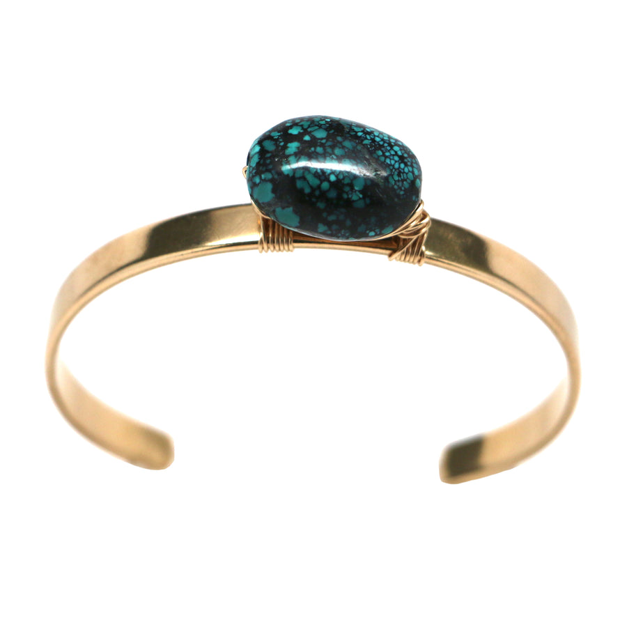 Regina Cuff - Single Turquoise Nugget