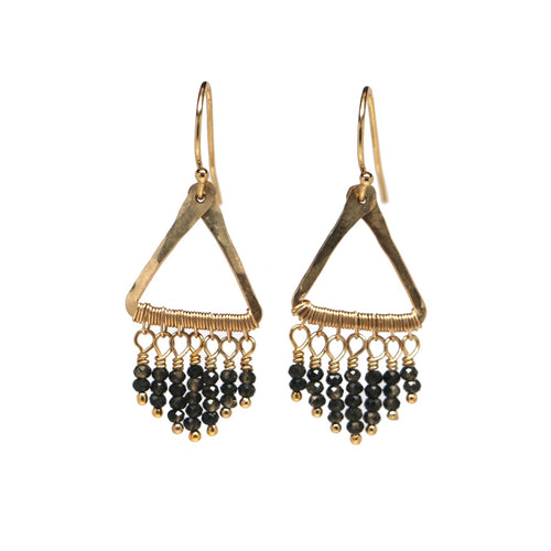 Sabrina Mini Earring - Olive Quartz