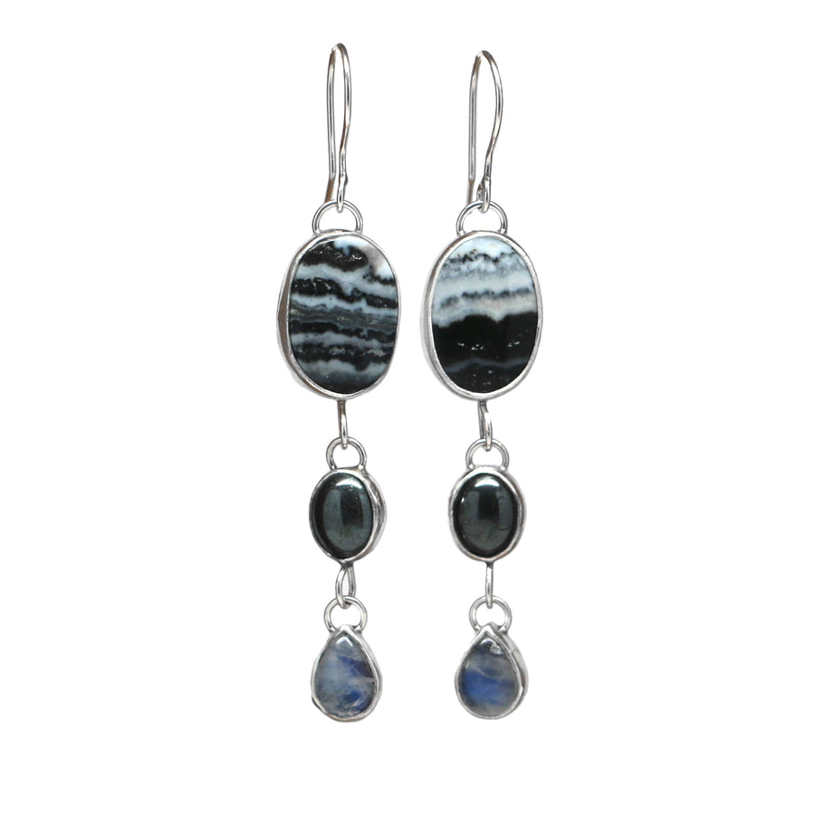Triple Cascade Earrings