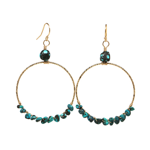 Turquoise Power Hoops