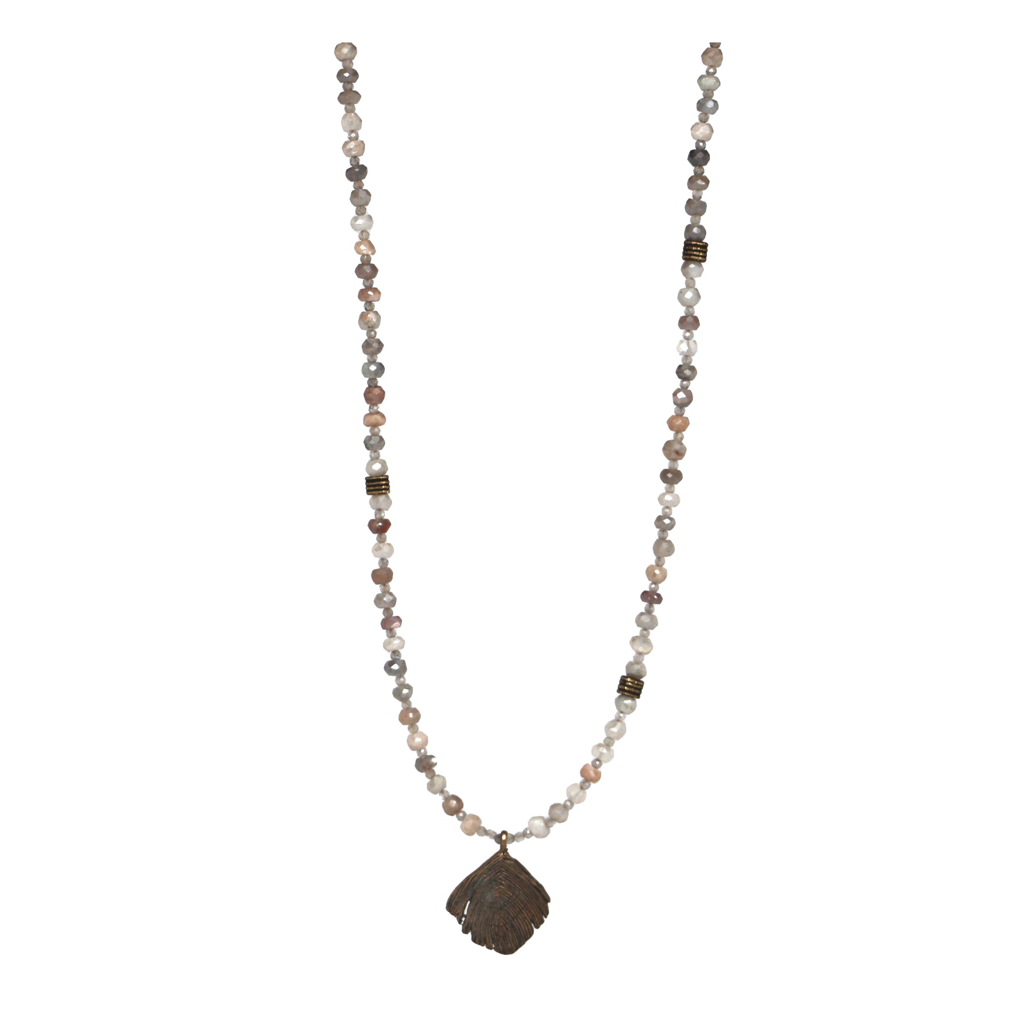 Ute Necklace - Mystic Grey Moonstone