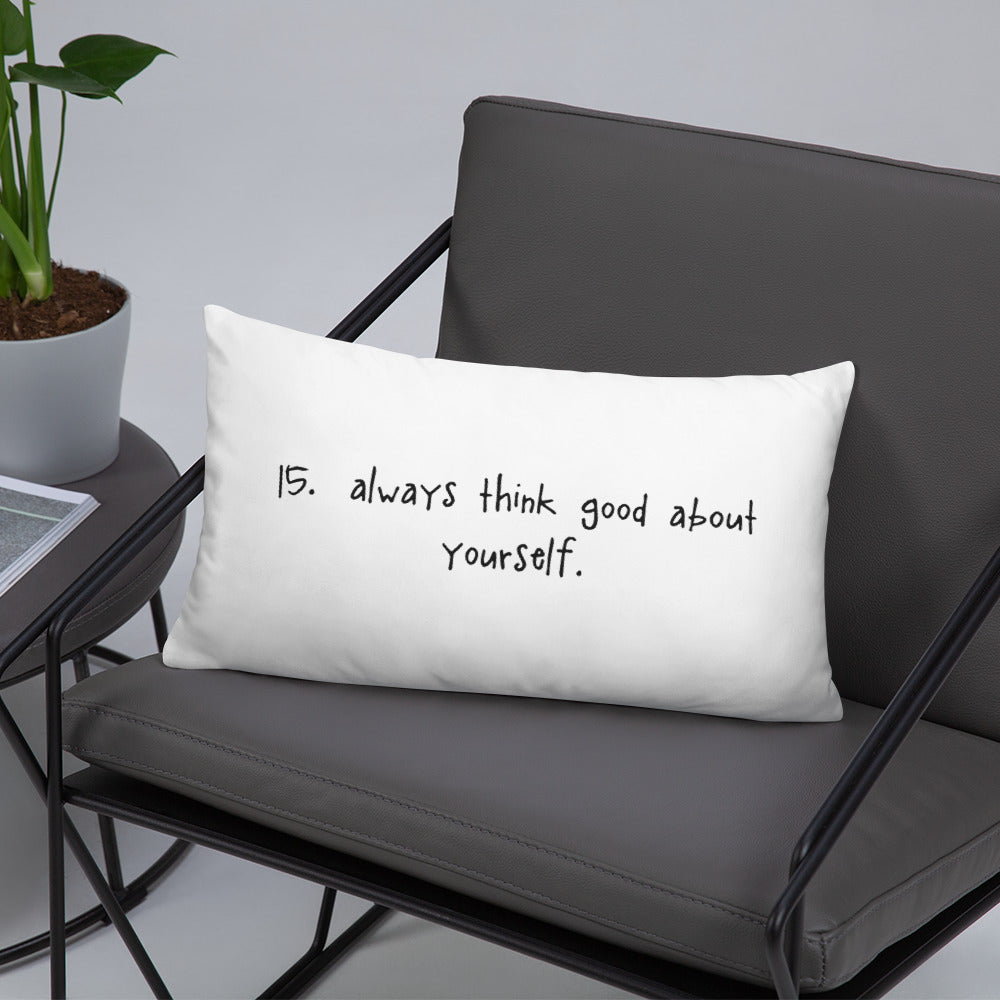 tip 15. white throw pillow. 2 sizes.