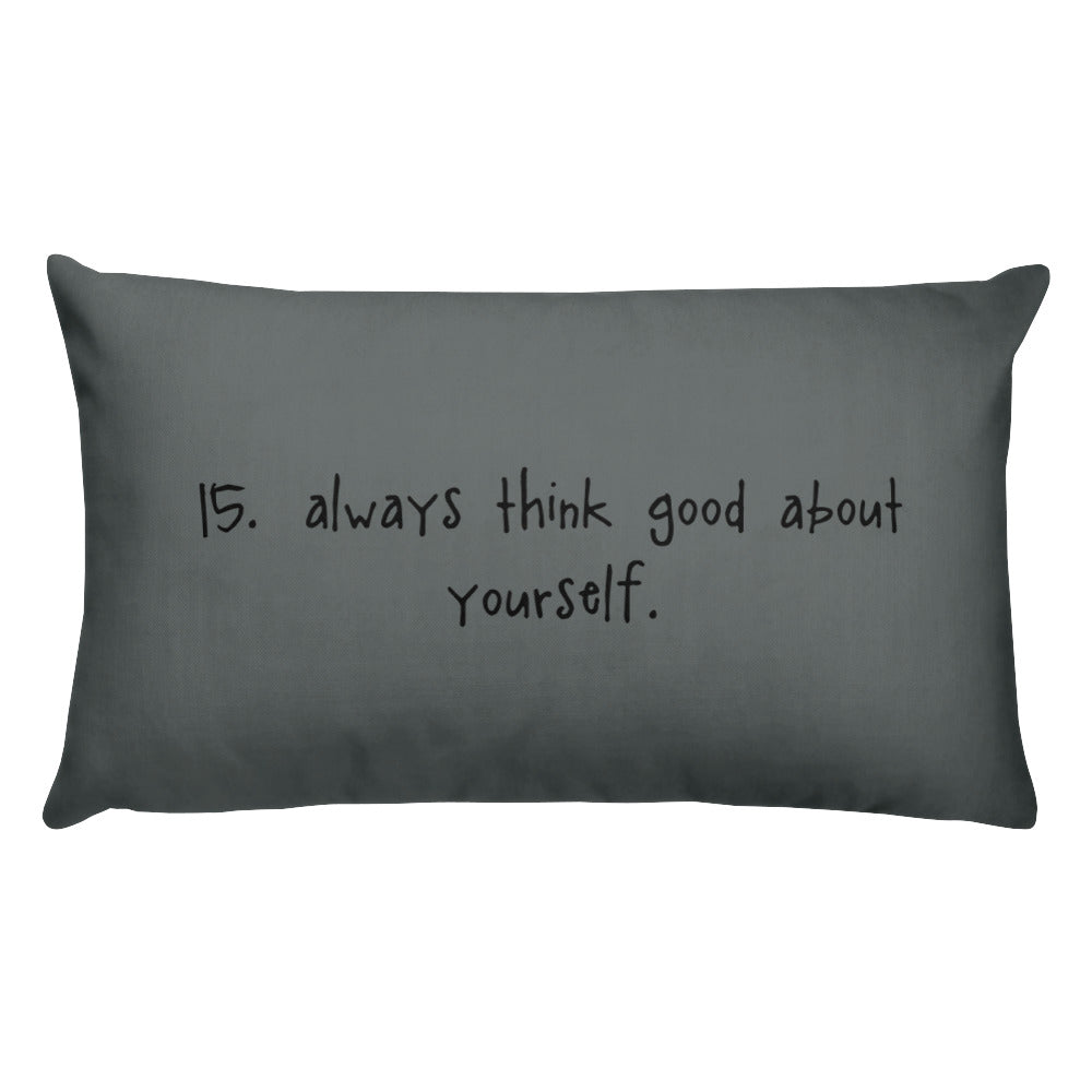 tip 15. gray throw pillow. 2 sizes.