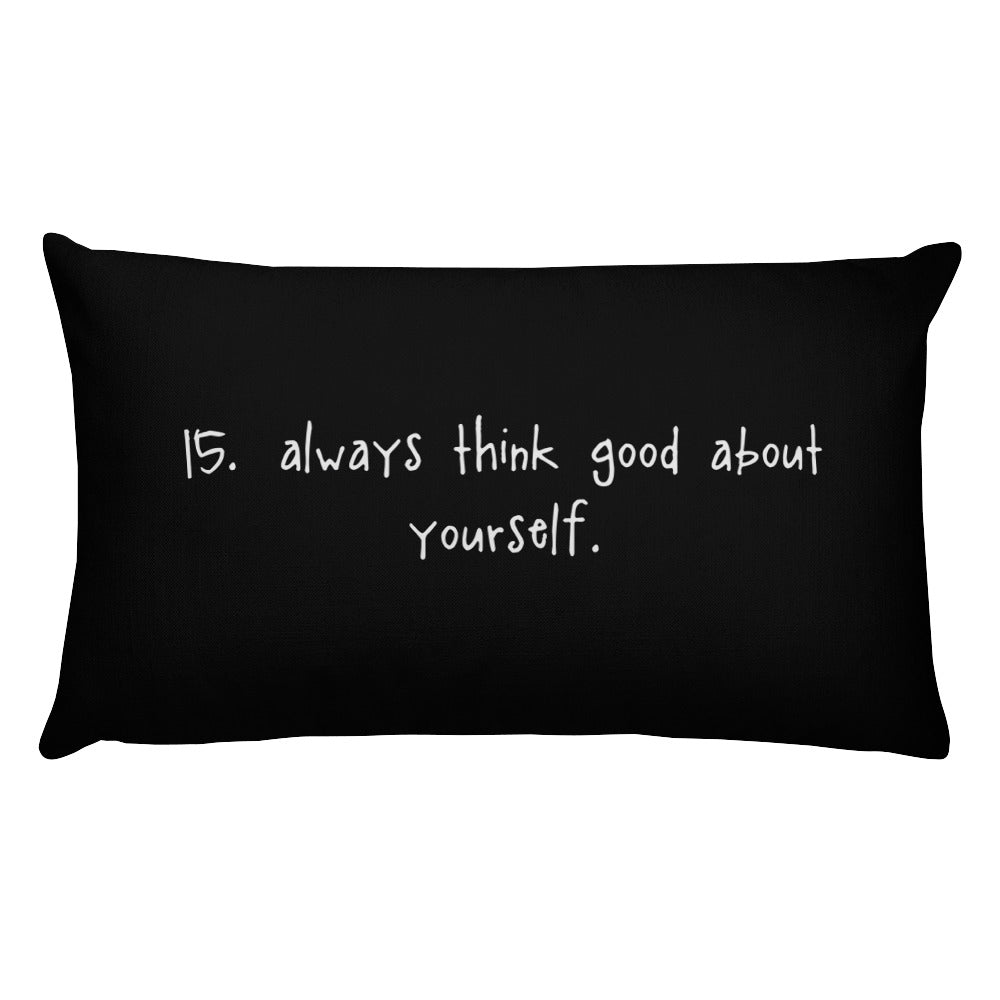 tip 15. black throw pillow. 2 sizes.