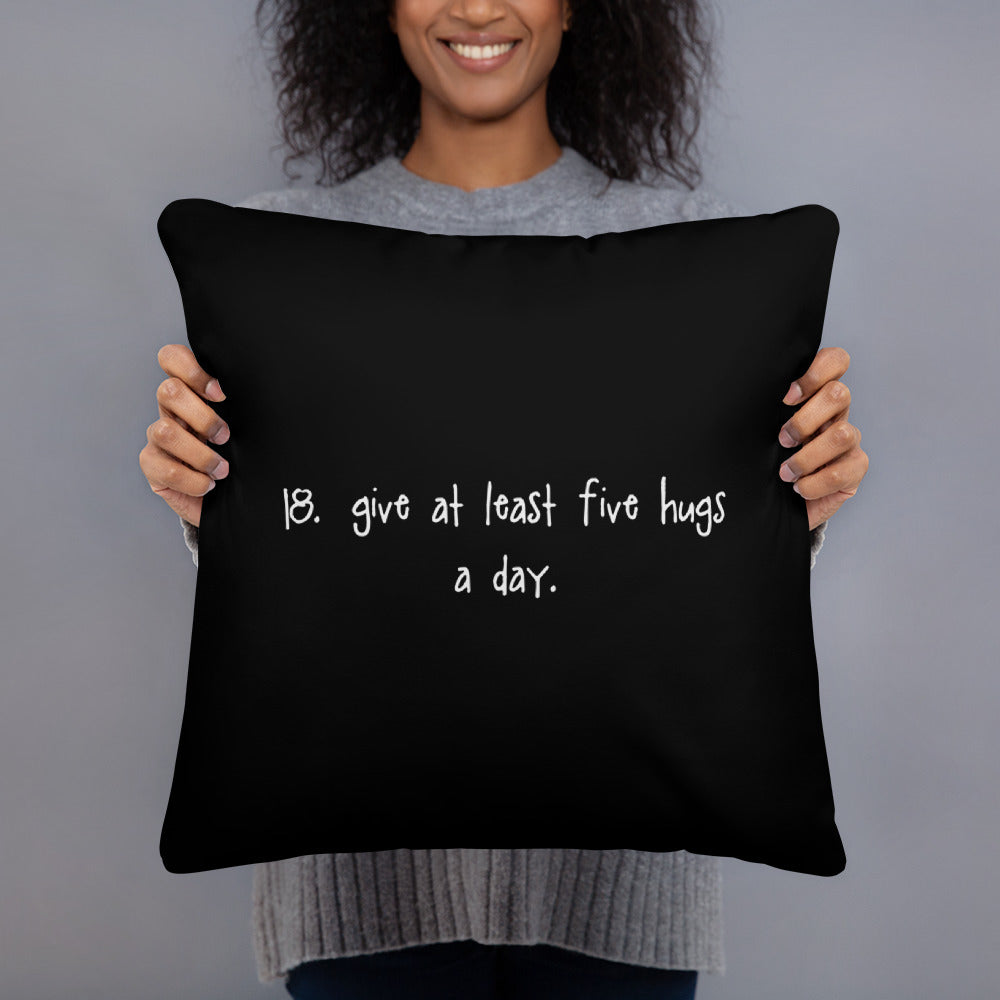 tip 18. black throw pillow. 2 sizes.