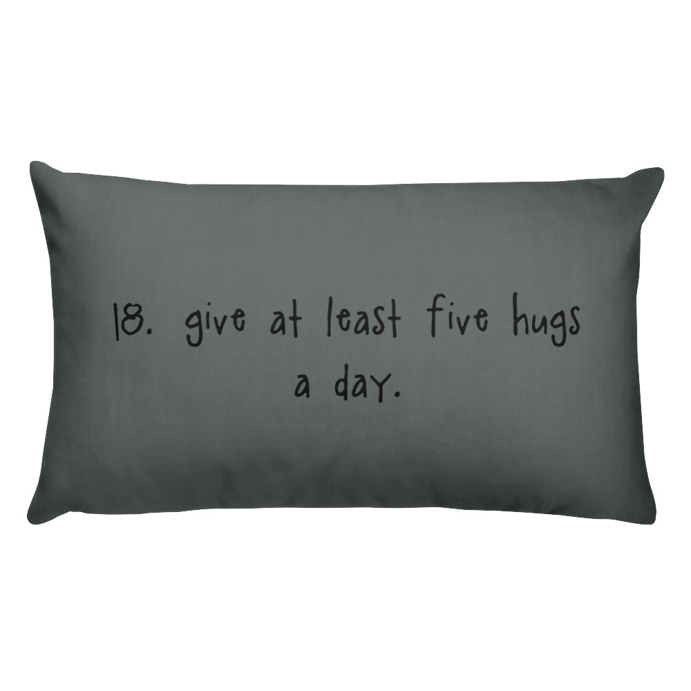 tip 18. gray throw pillow. 2 sizes.