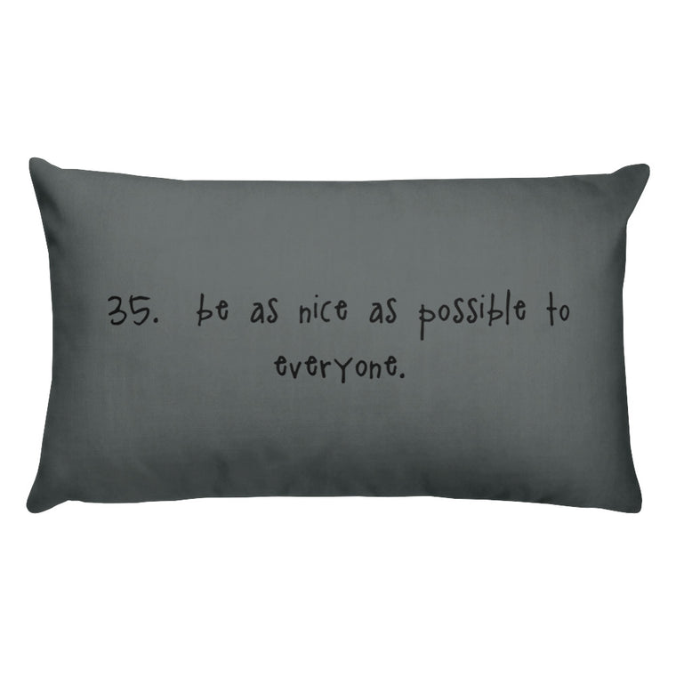 tip 35. gray throw pillow. 2 sizes.