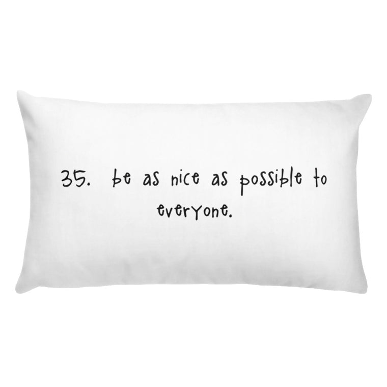 tip 35. white throw pillow. 2 sizes.