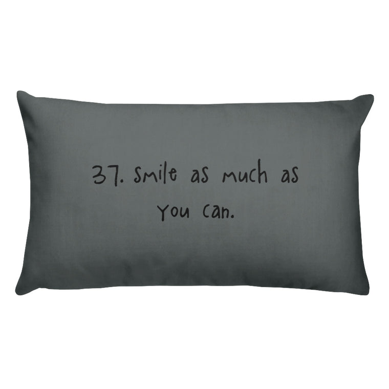 tip 37. gray throw pillow. 2 sizes.