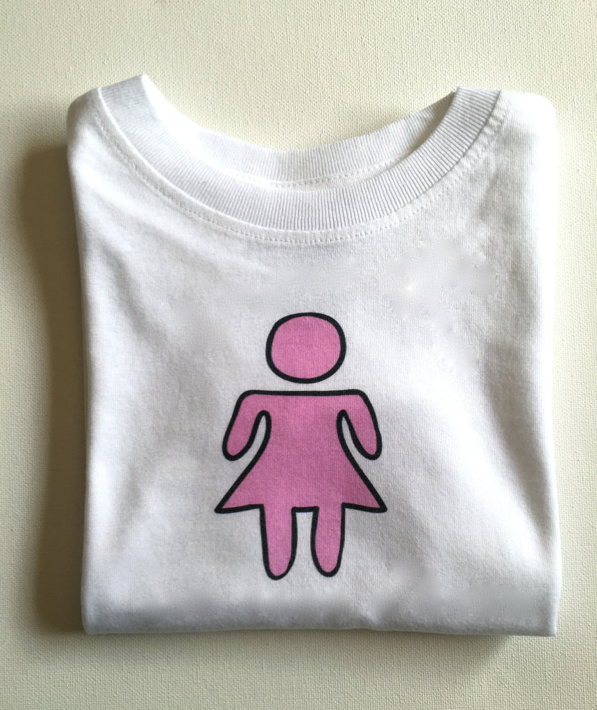 girl. toddler tee.