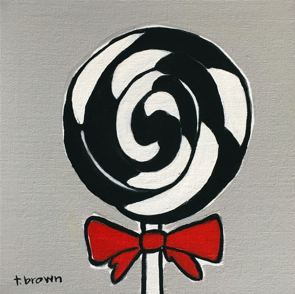 lollipop. 8x8 painting.