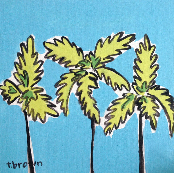 palm springs. 8x8 painting.
