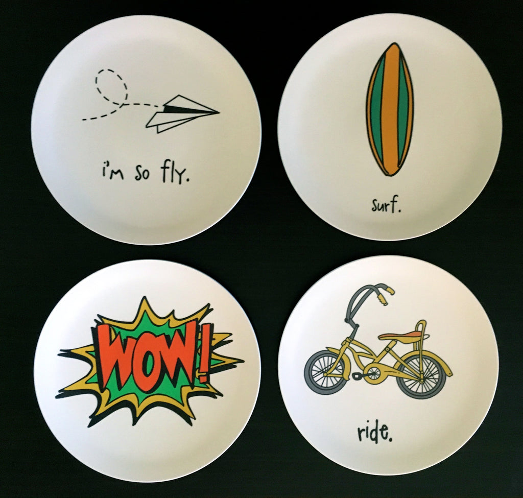 "i'm so fly. 8"" melamine plate."