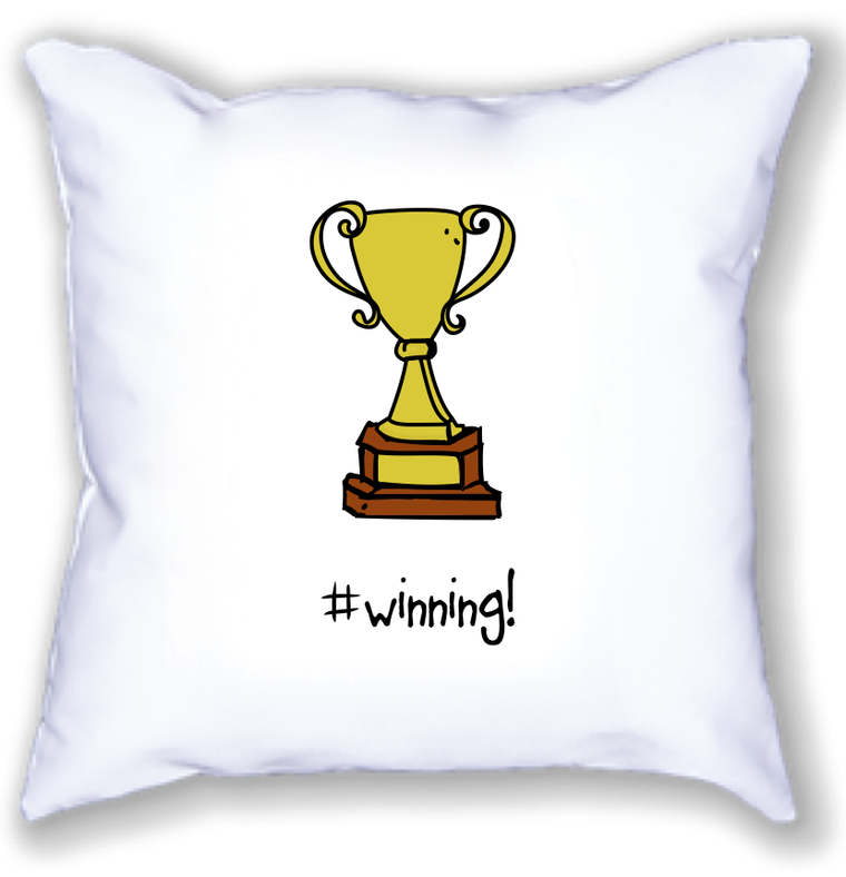 #winning! 18x18 pillow.