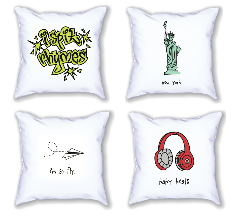 new york. 18x18 pillow.