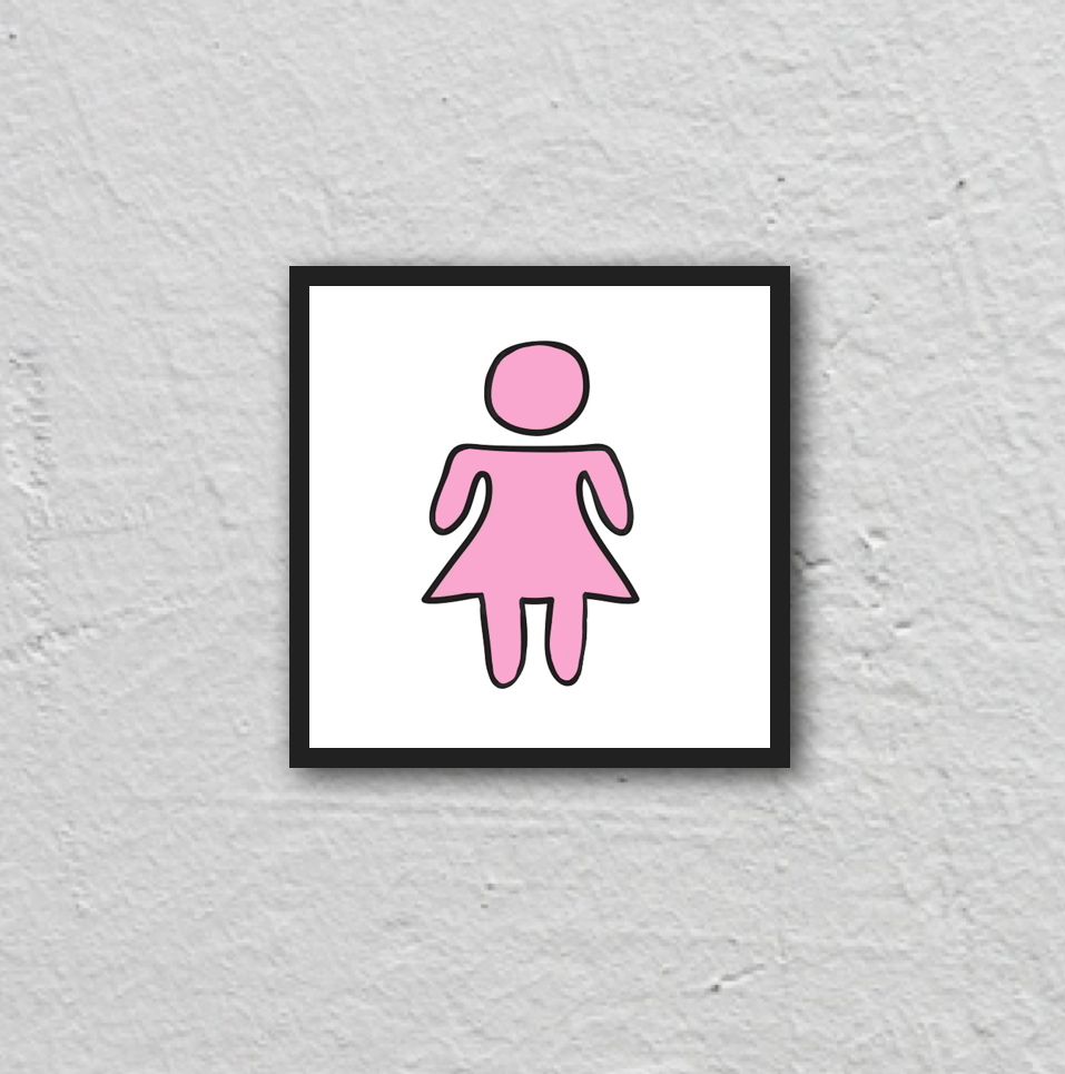 girl symbol. 12x12 framed poster.
