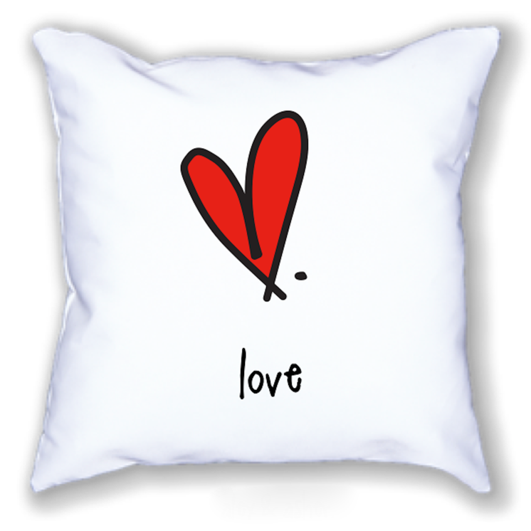 love. 18x18 pillow.