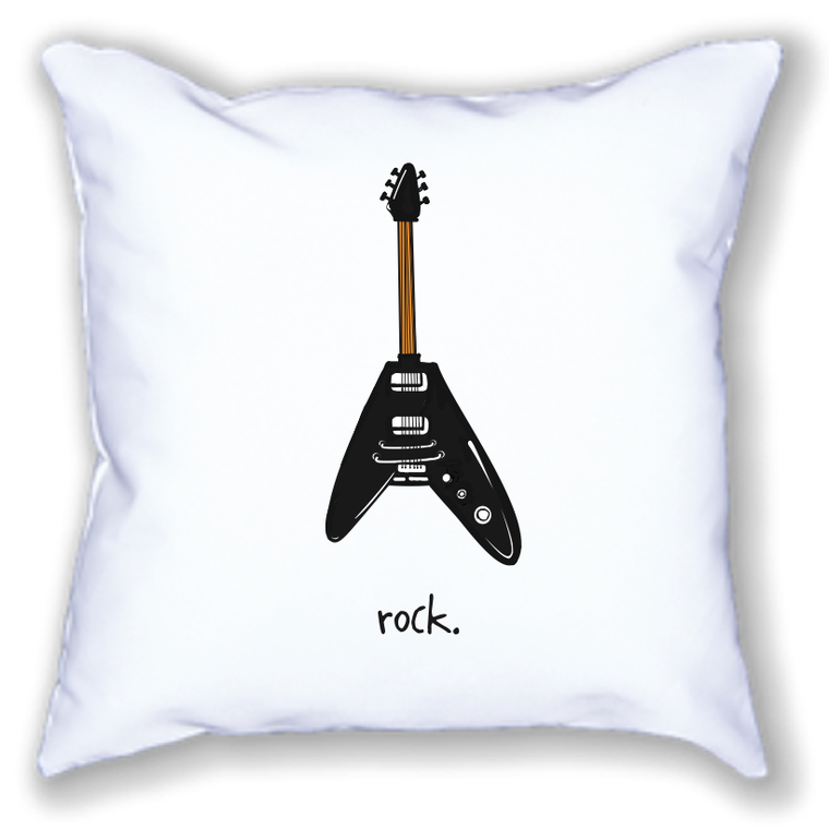 rock. 18x18 pillow.