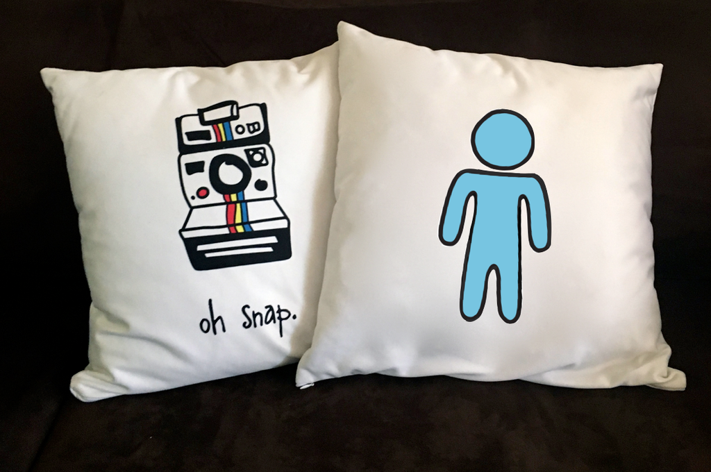 boy symbol. 18x18 pillow.
