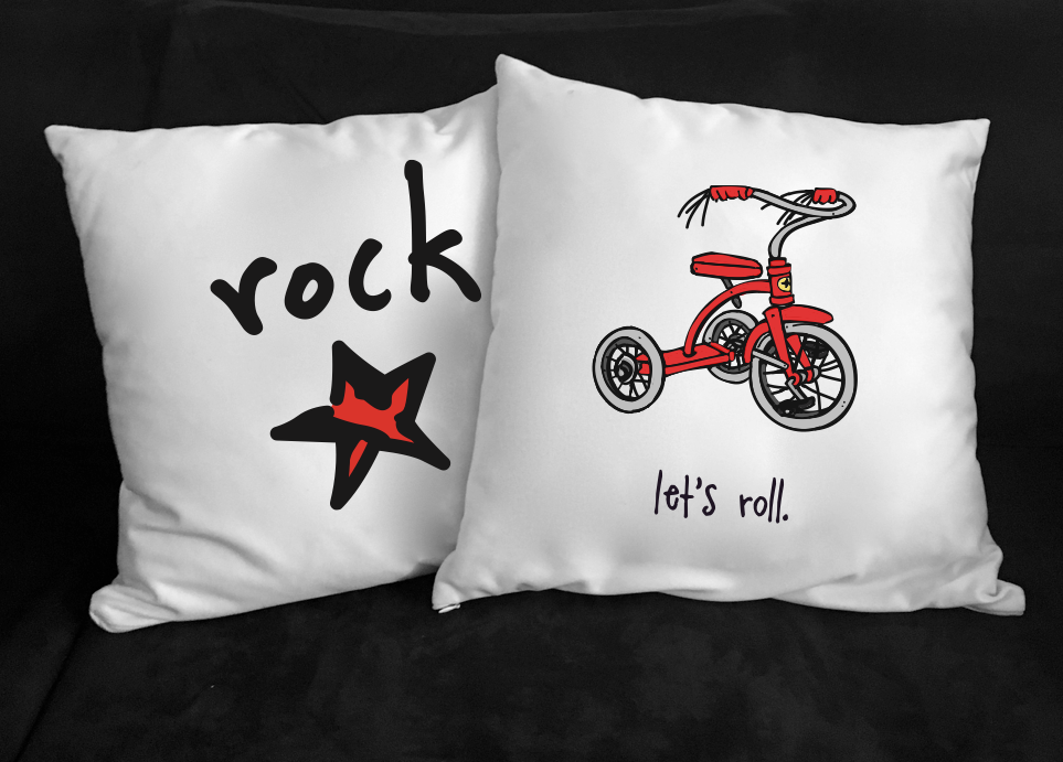 let's roll. 18x18 pillow.