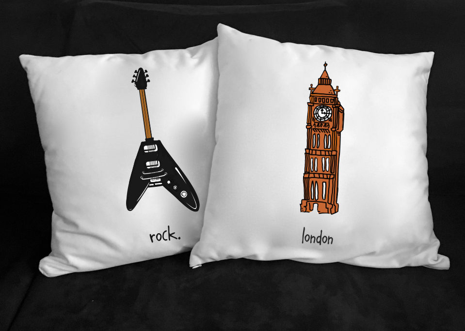 london. 18x18 pillow.