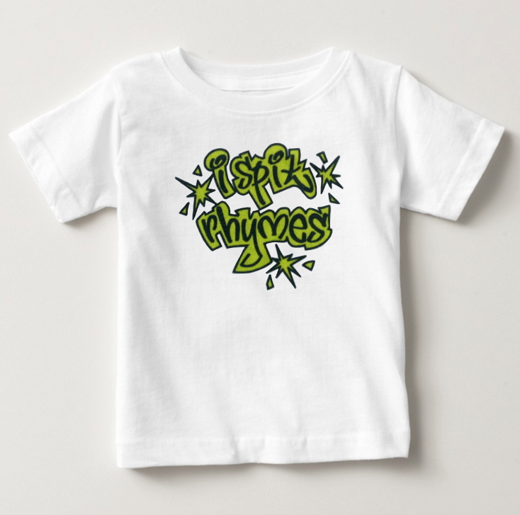 i spit rhymes. toddler tee.