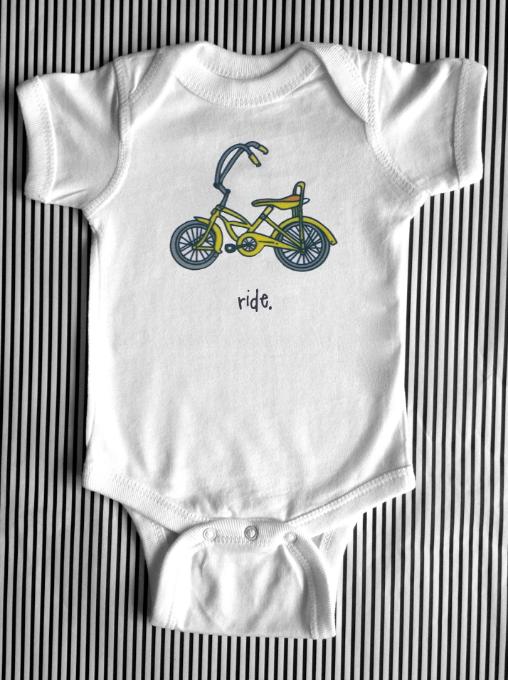 ride. baby bodysuit.