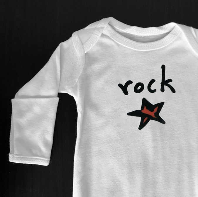 rock star. newborn gown.