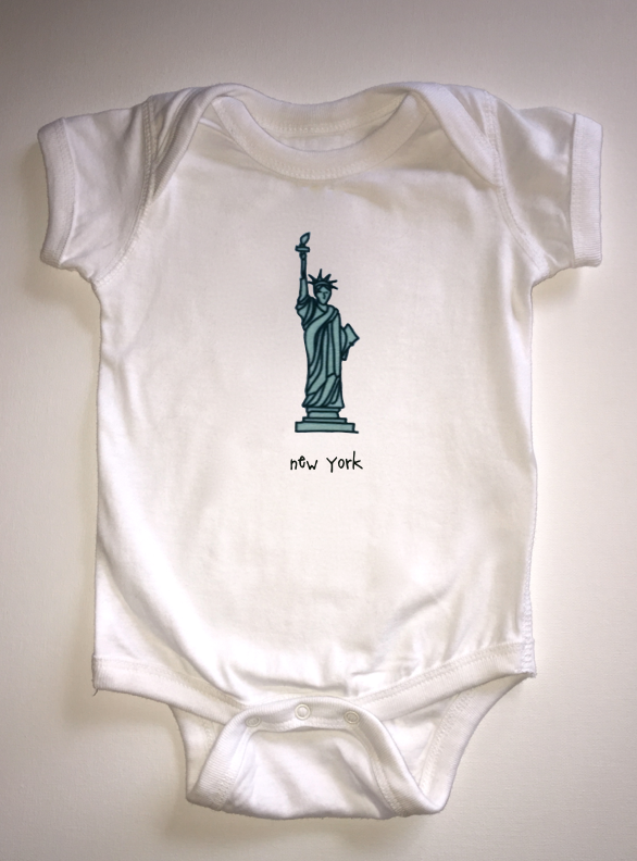 new york. baby bodysuit.