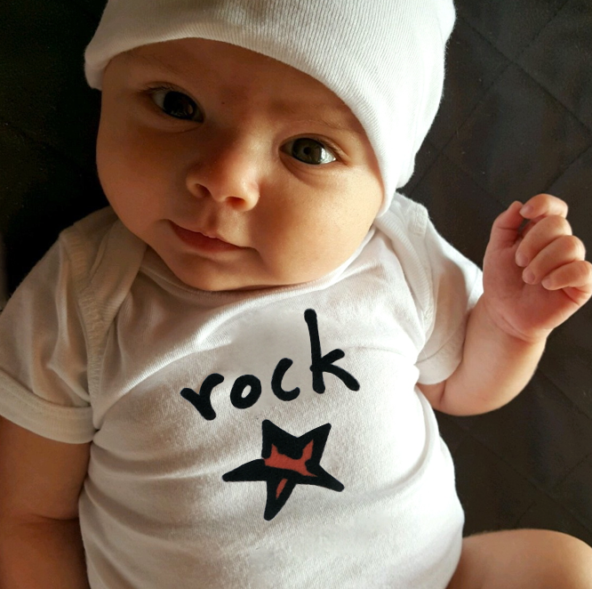 rock star. baby bodysuit.