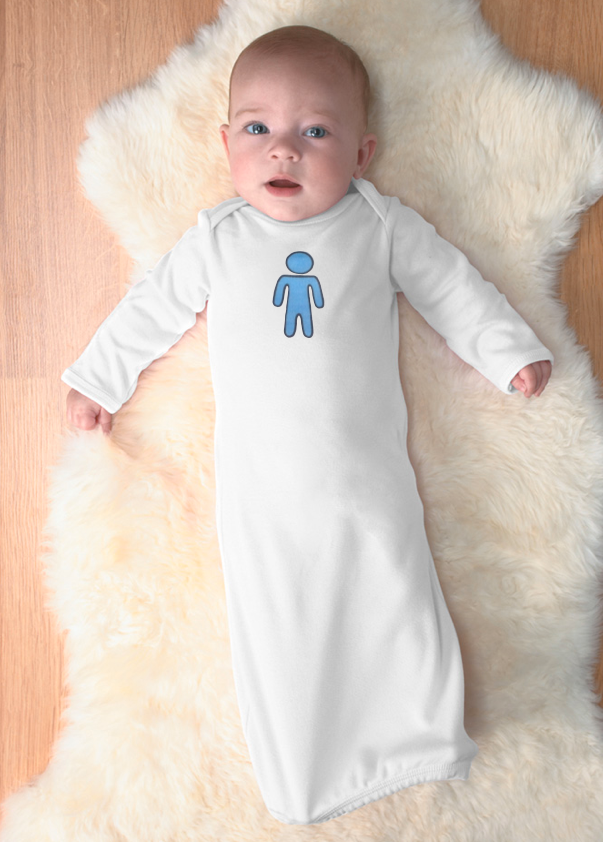 boy. newborn gown.