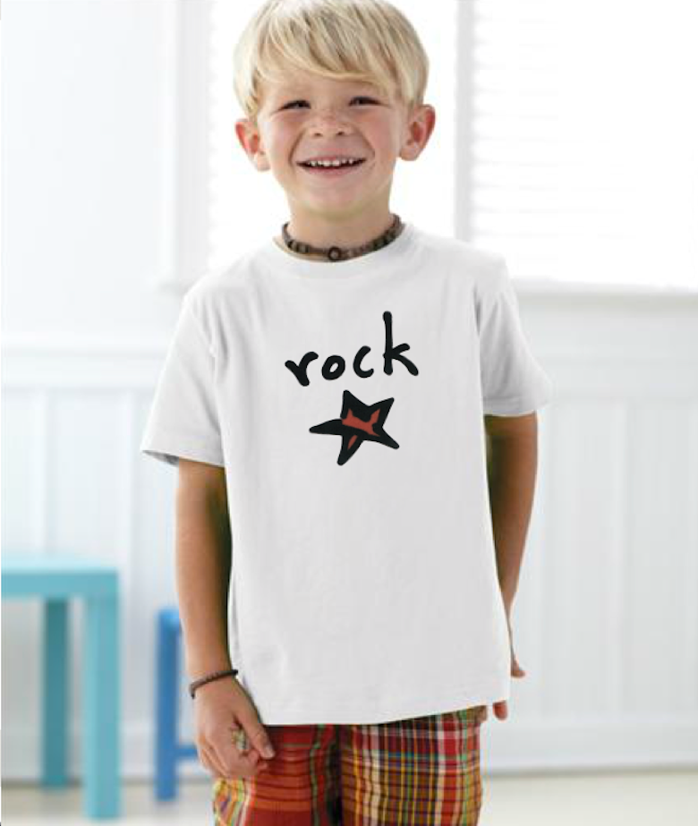 rock star. toddler tee.