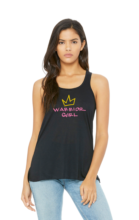 warrior girl racerback flowy tank.