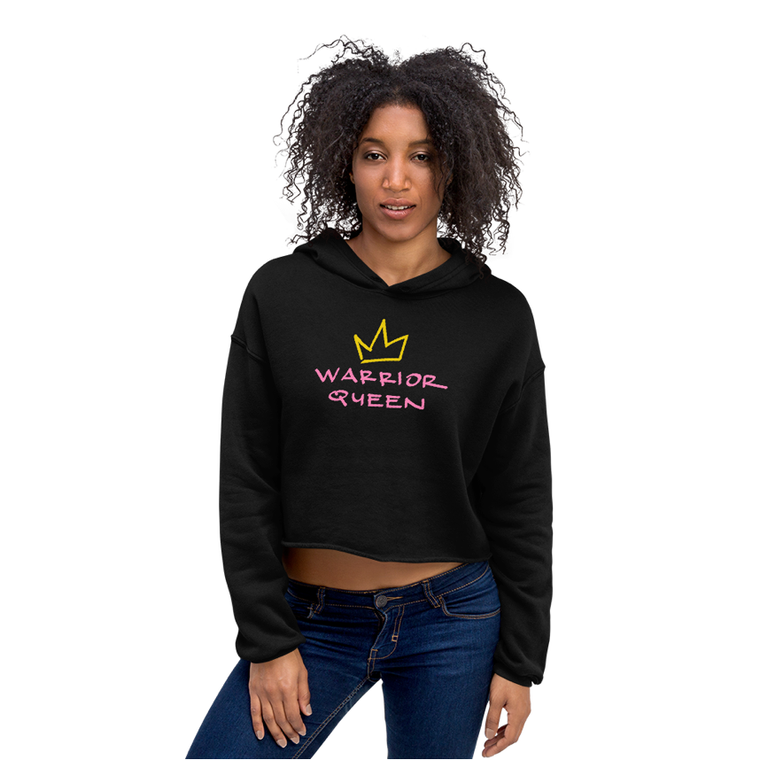 warrior queen crop hoodie.