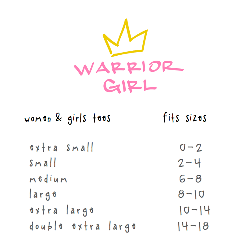 warrior girl short sleeve tee.