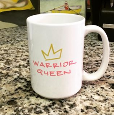 warrior queen 15 oz. white mug.